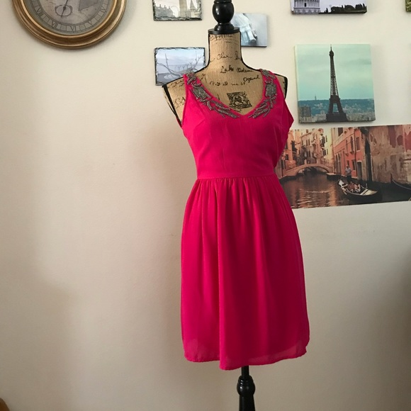 c21ba201 Zara Dresses | Trafaluc Hot Pink Sleeveless Dress Sz Xs | Poshmark